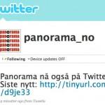 Panorama nå også på Twitter
