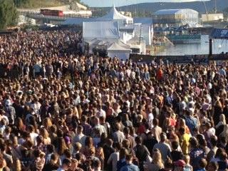 Stemningsbilde fra Øyafestivalen
